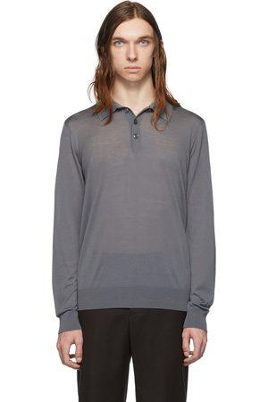 Giorgio Armani Solid Long Sleeve Polo