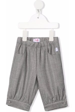 Il Gufo Elasticated waistband metallic trousers - Grey