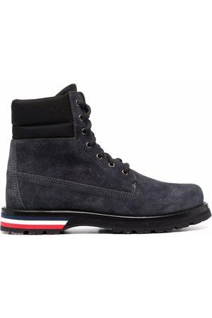 Moncler Vancouver logo-stripe lace-up ankle boots