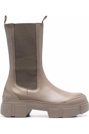 vic matiè Block-heel ankle boots - Grey