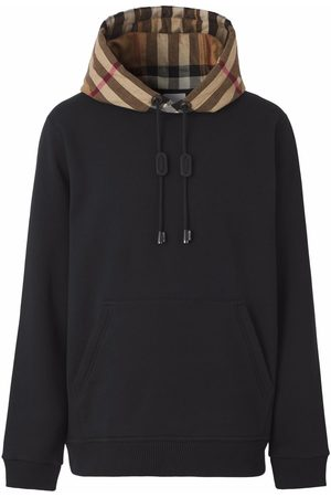 Burberry Check-detail hoodie