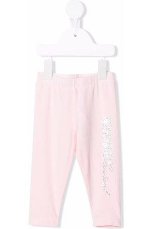 Moschino Baby Leggings - Glitter logo leggings