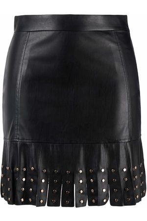Liu Jo Faux leather fringed skirt