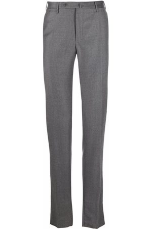 Incotex Pressed-crease four-pocket tailored trousers - Grey