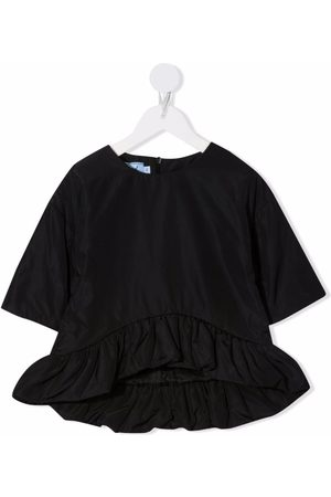 Mi Mi Sol Ruffle-trim zipped blouse