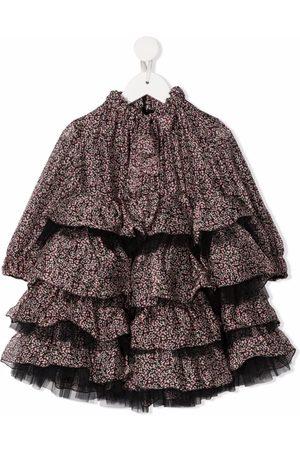Mi Mi Sol Floral-print tiered dress