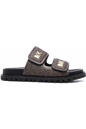 Michael Kors Women Sandals - Monogram-print double-strap sandals
