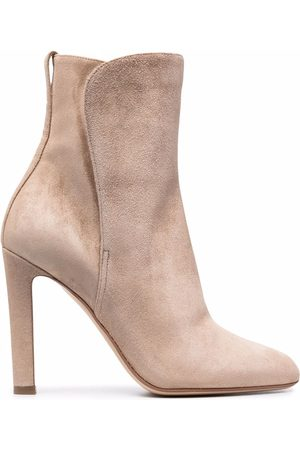Francesco Russo Pointed-toe suede ankle boots - Neutrals