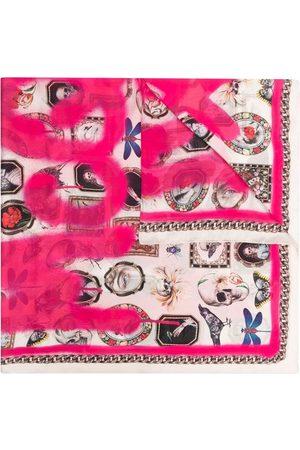 Alexander McQueen Logo-print detail scarf