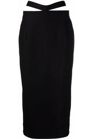 Jacquemus Women Pencil Skirts - Cut-out waist pencil skirt
