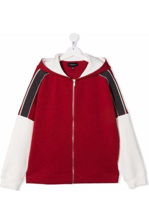 Emporio Armani Colour-block hooded jacket