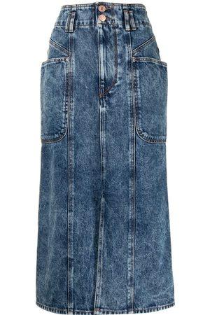 Isabel Marant Women Midi Skirts - Toria denim midi skirt