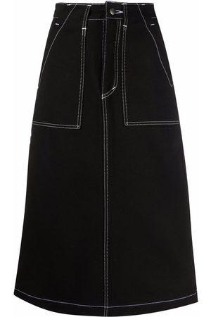 Société Anonyme Women Midi Skirts - Midi straight denim skirt