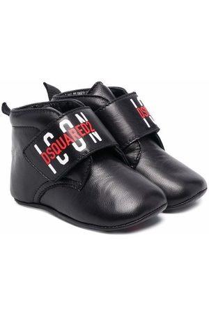 Dsquared2 Kids Logo-print leather crib shoes