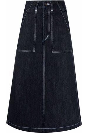 Société Anonyme Midi straight denim skirt
