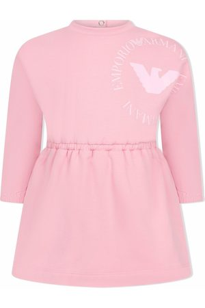 Emporio Armani Kids Logo-print long-sleeved T-shirt dress