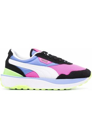 PUMA Women Sneakers - Colour-block lace-up trainers