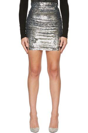 Dolce & Gabbana Women Mini Skirts - Silver Sequin Miniskirt