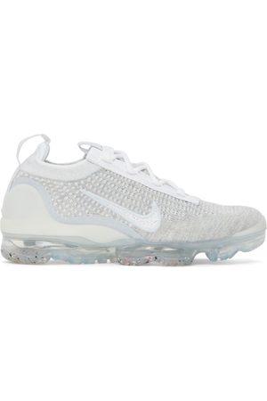 Nike Women Sneakers - White & Grey Flyknit Air Vapormax 2021 Sneakers