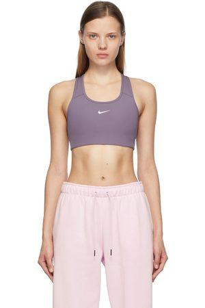 Nike Purple Swoosh Sports Bra