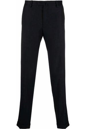 BRIGLIA Slim-fit wool tailored trousers