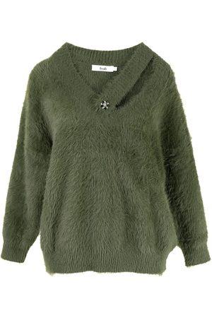 B+AB Crystal-embellished textured jumper