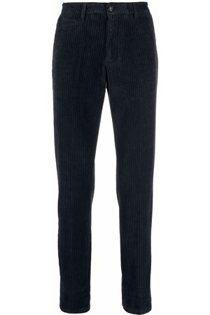 BRIGLIA Men Straight Leg Pants - Straight-leg corduroy trousers