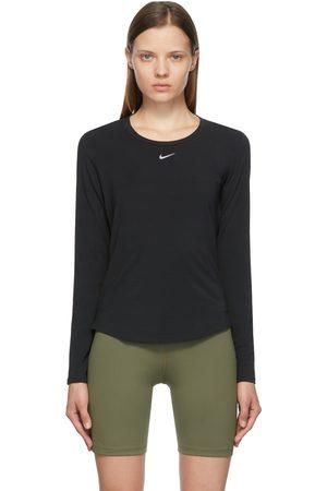 Nike Women Long Sleeve - Black One Luxe Long Sleeve T-Shirt