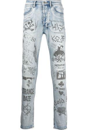 Ksubi Men Skinny - Van Winkle graphic-pint skinny jeans