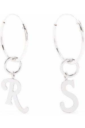 Raf Simons Men Earrings - Initials hoop earrings