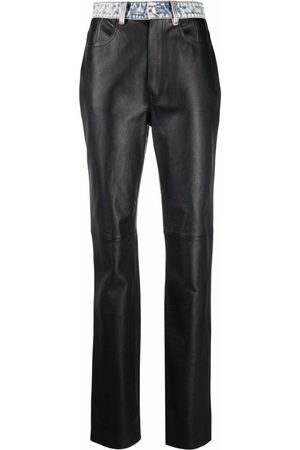 Alexander Wang Contrast moto leather trousers