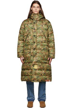 R13 Green & Brown Brumal Edition Down Anorak Coat