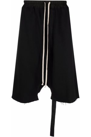 Rick Owens DRKSHDW Men Shorts - Drawstring drop-crotch shorts