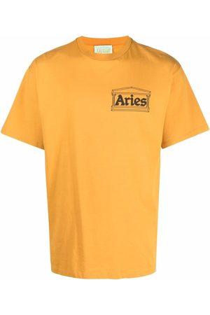 ARIES Logo-print crewneck T-shirt