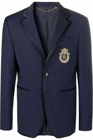 Billionaire Embroidered-logo single-breasted blazer