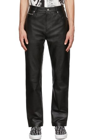 Stolen Girlfriends Club Men Leather Pants - Limited Edition Leather Rider Trousers