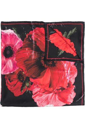 Alexander McQueen Women Scarves - Floral-print silk scarf