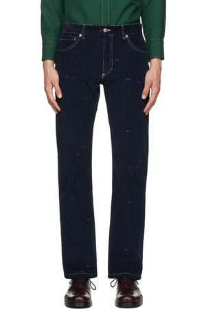 Phipps Men Straight Leg Pants - Navy Corduroy Straight-Leg Trousers
