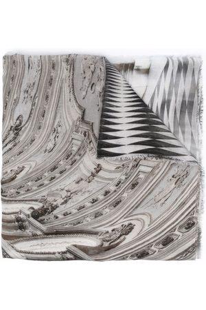 Faliero Sarti Baroque print scarf - Grey