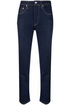 Levi's: Made & Crafted Cropped slim-fit jeans