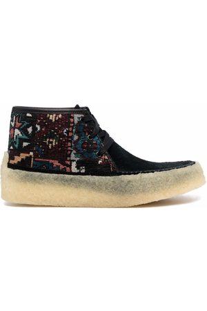 Clarks Originals Patterned-jacquard lace-up boots