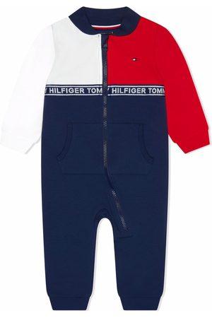 Tommy Hilfiger Junior Colour-block zip-up romper