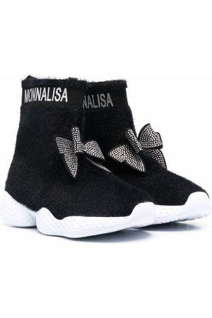 Monnalisa TEEN logo-print ankle boots