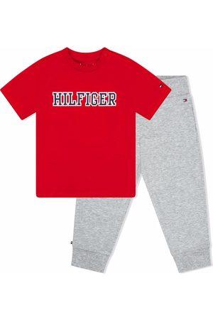 Tommy Hilfiger Junior Logo-print tracksuit set - Grey