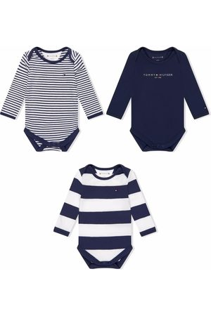 Tommy Hilfiger Junior Striped long-sleeved romper set of 3