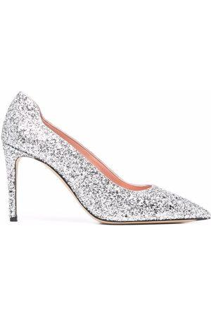 Victoria Beckham Embellished pointed pumps - Grey