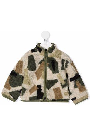 Stella McCartney Kids Graphic-print shearling jacket