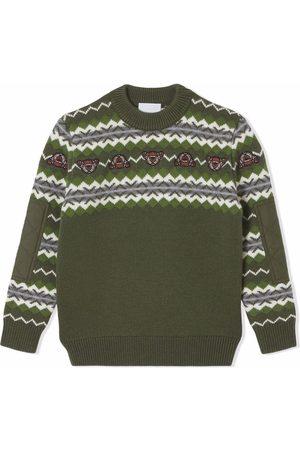 Burberry Kids Fair Isle wool-cashmere jumper