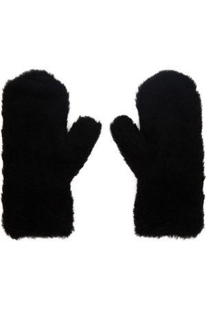 Max Mara Women Gloves - Black Teddy Mittens