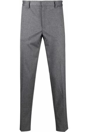 BOSS Pressed-crease four-pocket tailored trousers - Grey